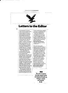 Letter from TAP published by The Independent 24th August 2015